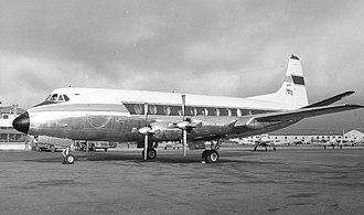 Business aircraft - A Vickers Viscount operated by U.S. Steel