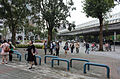 Visitors Walking across Section 3, Xinshen South Road to NTU Gym 20151025.jpg