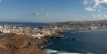 View of Las Palmas de Gran Canaria from La Isleta