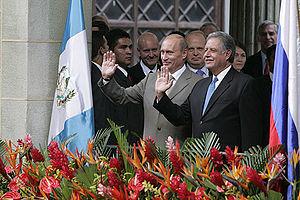 Guatemala–Russia relations - Vladimir Putin in Guatemala
