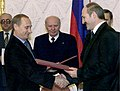 Vladimir Putin in Belarus 30 November 2000-6.jpg