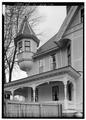 WEST TOWER, LOOKING SOUTHWEST - John Calvin Owings House, 787 West Main Street, Laurens, Laurens County, SC HABS SC,30-LAUR,2-14.tif