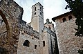 WLM14ES - El cimbori i la torre de les hores des del claustre del Reial Monestir de Santes Creus, Aiguamurcia, Alt Camp - MARIA ROSA FERRE.jpg