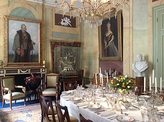 Historic house museum - Dining room of German Emperor William II in Huis Doorn in the Netherlands