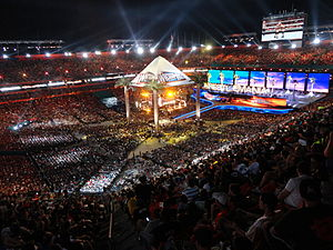 WrestleMania XXVIII - A record of 78,363 fans at Sun Life Stadium for WrestleMania XXVIII