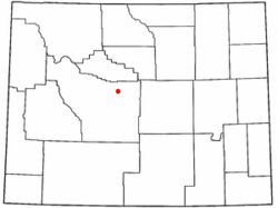 Location of Shoshoni, Wyoming