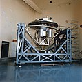 Wake Shield Facility in the Vibration & Acoustics Test Facility before STS-60 (S91-48560).jpg