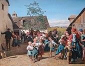 Rückkehr von der Kirchweih, um 1859/60, Alte Nationalgalerie, Berlin (Quelle: Wikimedia)