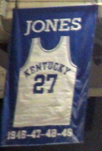 Wallace Jones - A jersey honoring Jones hangs in Rupp Arena.