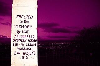 Wallacestone village in Falkirk, Scotland, UK