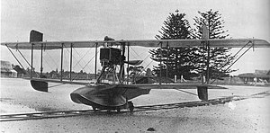 Keith Caldwell - Walsh Brothers pilot training flying boat
