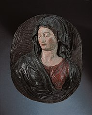Oval medallion with the bust of the Madonna