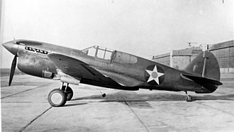 Curtiss P-40 Warhawk variants - The prototype P-40F, converted from a P-40D.