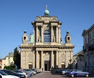1783 in architecture - Façade of Carmelite Church, Warsaw