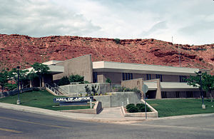 Washington County, Utah - Image: Washington County Courthouse St George UT1992
