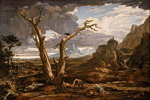 Elijah - Elijah in the wilderness, by Washington Allston.