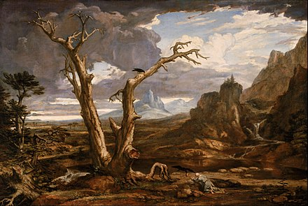 Elijah in the wilderness, by Washington Allston Washington Allston - Elijah in the Desert - Google Art Project.jpg