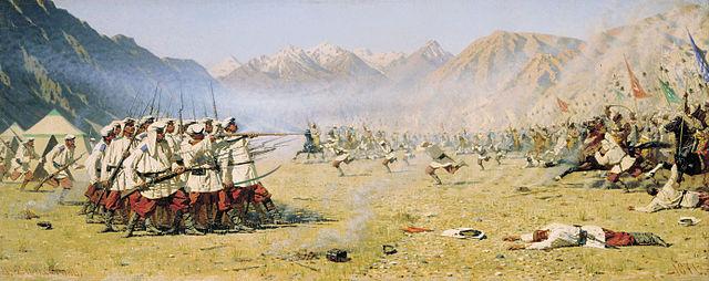 «Нападают врасплох». Картина В.В.Верещагина, 1871г.