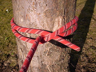 Clove hitch type of knot
