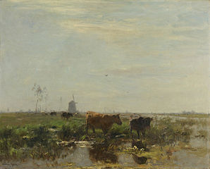 Meadow with Cows by the Water