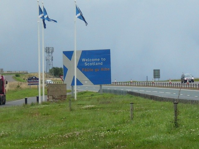 Welcome to Scotland - geograph.org.uk - 931197