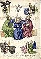 Weltliche Marienkrönung, Illustrationen zum Buch der Heiligen Dreifaltigkeit, Pal. lat. 1885, fol. 018r.jpg