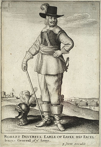 Cavalier boots - Image: Wenceslas Hollar Earl of Essex on foot (State 2) cropped