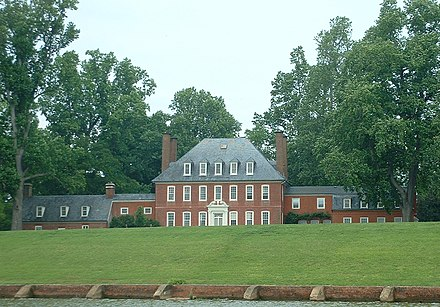 Westover Plantation - Georgian country house on a plantation on the James River in Virginia WestoverPlantationSEGL.jpg