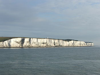 English: White Cliffs of Dover, England - the ...