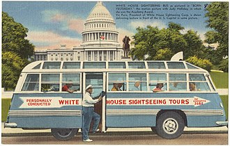 Born Yesterday (1950 film) - White House Sightseeing bus as pictured in the film.