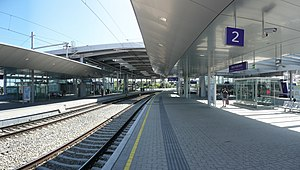 North railway (Austria) - Image: Wien Praterstern July 2008 stitched