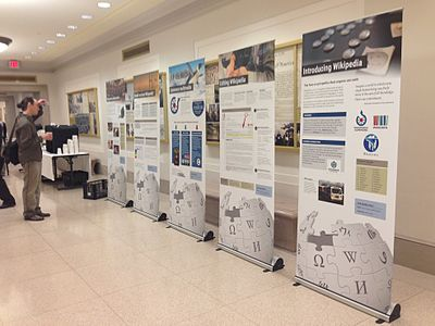 The Wikipedia Space exhibit at the National Archives