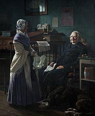 "Double portrait of the merchant Christopher Friedenreich Hage (1759-1849) and his wife Arnette, born Just (1778-1866) ""May I borrow the two brown horses?"","