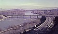 Willamette River Bridge historic photo of the original bridge. (5568819023).jpg