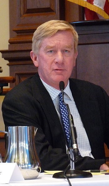 English: William Weld Speaks at Harvard Law Sc...