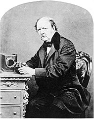 William Fox Talbot (1864) na zdjęciu Johna Moffata