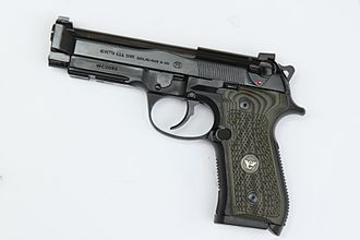 Beretta 92 - Beretta/Wilson 92G Brigadier Combat, a cooperative effort of Wilson Combat and Beretta. It features heavy Brigadier Slide, stainless match barrel, single function ambi-decock  and a refined action.