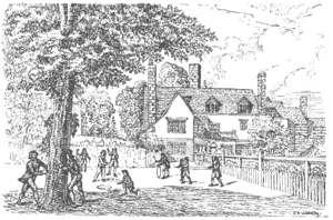Wilson's School - The Old Buildings, showing the West House, as it was rebuilt in 1687, viewed from the south