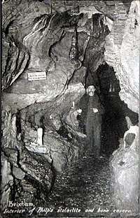 A postcard of the cave from about 1900