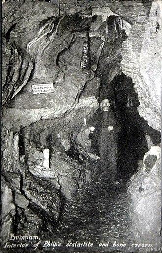 Windmill Hill Cavern - Image: Windmill Hill Cavern postcard circa 1900