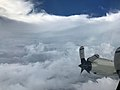 Wing of NOAA Hurricane Hunters plane flying through Hurricane Irma.jpg