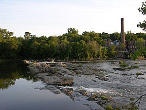 Winooski, Vermont - Mill and falls in Winooski