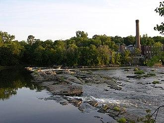 Winooski, Vermont - Mill and falls in Winooski