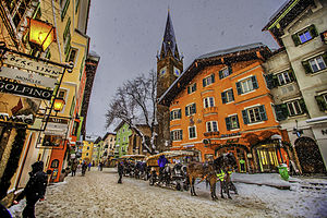 Kitzbühel - Winter snow in Kitzbühel