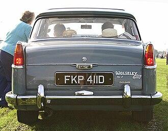 Wolseley 6/99 - Image: Wolseley 6 110 Mk II tail