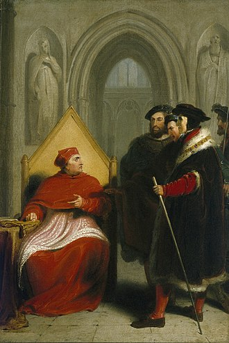 Richard Westall - Image: Wolsey disgraced (Westall, 1795)