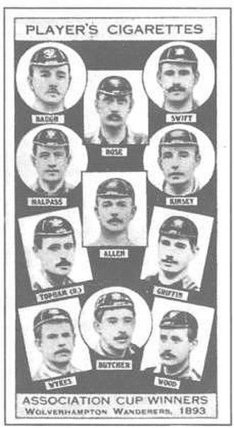 1893 FA Cup Final - Wolverhampton Wanderers Cigarette Card