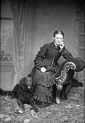 Woman with a dog (Llanrwst?)