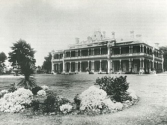 Woollahra House - The second Woollahra House c. 1885, built in 1883 by William Charles Cooper