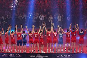 Russia men's national volleyball team - Russia team in final World League 2011